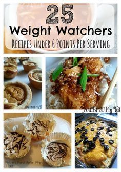 Don't miss this great list of Weight Watchers Recipes under 6 Points Plus!  Weight Watchers Desserts!  Weight Watchers Lunches!  Weight Watchers Meals!