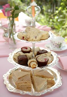 """A Vegan Afternoon Tea ..Cucumber Tea Sandwiches with Herbed """"Cream Cheese"""""""