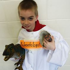 PALEOTOLOGIST! A dinosaur passion gives this boy his Vocabulary Parade costume word! More ideas at DebraFrasier.com, click on the Miss Alaineus cover! Vocabulary Parade, Vocabulary Words, Costumes Kids, Costume Ideas, School Projects, School Ideas, Dress Up Day, Book Week, Creative Kids
