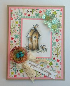 "Enjoy the little things ...  ""Stamps by Judith"", Cardstok: Stampin' Up! & Designer Paper: My Mind's Eye/Lime Twist"