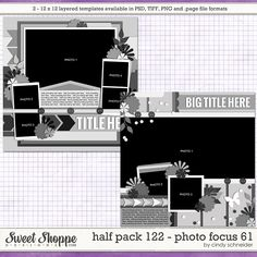 SSD HB2015 - Cindy's Layered Templates - Half Pack 122: Photo Focus 61 by Cindy Schneider