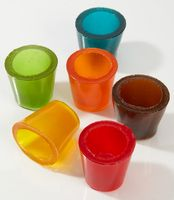 gummi shot glasses, yum!
