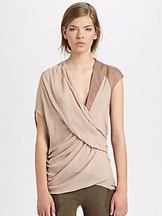 Helmut Lang - Lush Voile Draped Top. PLEASE! Need this in black! Looks amazing.