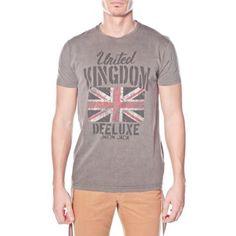 t-shirt col rond manches courtes DEELUXE en jersey effet délavé
