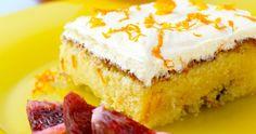 Saftig appelsinkake med sjokolade (in Norwegian) Cake Bars, Recipe Boards, Vanilla Cake, Cake Recipes, Cheesecake, Food And Drink, Eat, Desserts, Bakken