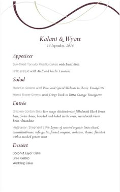 Wine Event Menu - MustHaveMenus