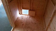 Inside In The Rabbit Shed with a Pet Friendly Door.  Bespoke and Handmade By Boyles Pet Housing