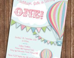 HOT AIR BALLOON Birthday Party Printable by PrintasticDesign