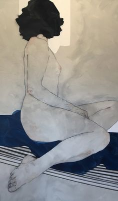 Nikoleta Sekulovic ALKE - 100 x 170 Prowess, courage, strength. Alke was the spirit and personification of the abstract concept of courage and battle-strength. Figure Painting, Figure Drawing, Painting & Drawing, Art Toronto, Figurative Kunst, Life Drawing, Portrait Art, Erotic Art, Art Drawings