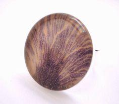 Purple Pressed Flower ring #jewelry #ring