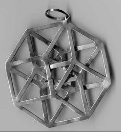 Sombra en 2D/3D de un Teseracto (o hipercubo).