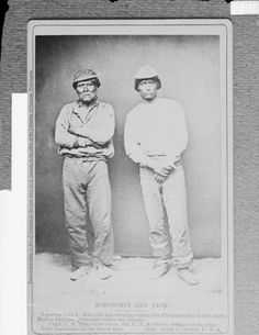 Schonchin John (the uncle Captain Jack), Kintpuash (aka Having The Water Brash, aka Captain Jack) - Modoc - 1873