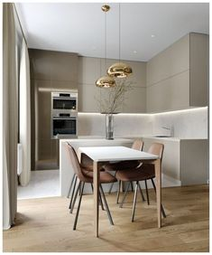 Home Decor Ideas gathered a few modern kitchen ideas, from the world's top interior designers, so you too can feel inspired to renovate your luxury kitchen. Minimalist Kitchen Design, Kitchen Decor, Home Decor Kitchen, Kitchen Furniture Design, Kitchen Room Design, Home Kitchens, Kitchen Remodel, Modern Kitchen Design, Small Modern Kitchens