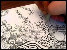 ▶ Most Intricate Zentangle (for me) - YouTube