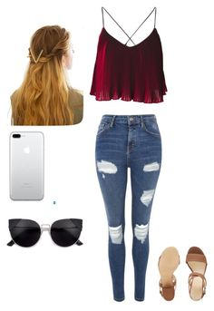 """""""Untitled #832"""" by lorenaisrandom on Polyvore featuring Topshop, Nine West and WithChic"""