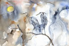 Heron Communion- by Roderick MacIver - Signed, Limited Edition Print