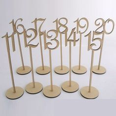 Feature: - Free-standing - Decorative with paint or colors - Great for wedding, events, and parties. Material: Wood Package Contains: 10pcs Approx. Size: (L)35 x (W)8.7cm
