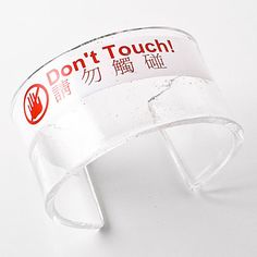 #SWAG: 'Don't Touch' Cirkuita Cuff/Bracelet - Work of Art & Upcycled Beauty €175