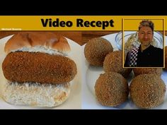 Kroketten en bitterballen maken - YouTube Dutch Recipes, International Recipes, Finger Foods, Side Dishes, Bbq, Food And Drink, Appetizers, Lunch, Snacks