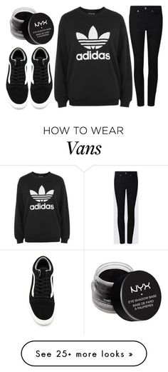 """a walk in the park"" by j-n-a on Polyvore featuring adidas, Vans and NYX"