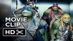 Teenage Mutant Ninja Turtles Official Movie CLIP - The Elevator (2014) -... THIS SCENE IS ONE OF MY FAVORITES!!♥♥♥