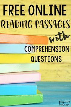 Free Online Reading Comprehension Websites | ELA 3rd grade | Online ...