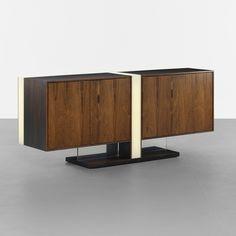 VLADIMIR KAGAN rare illuminated cabinet, model 7033