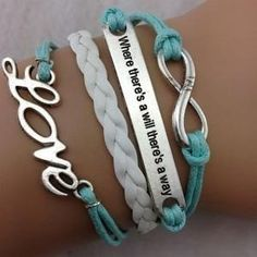 Aqua When Thers's A Will, There's a Way Multi Strand Bracelet – All Things Country