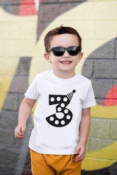 Third Birthday Shirt Third Birthday Third Birthday Outfit Third Birthday Boys, 2nd Birthday Shirt, 1st Birthday Outfits, Boy Birthday Parties, Old Shirts, Vinyl Shirts, Cotton Shirts, T Shirt Kids, Boy Birthday Pictures