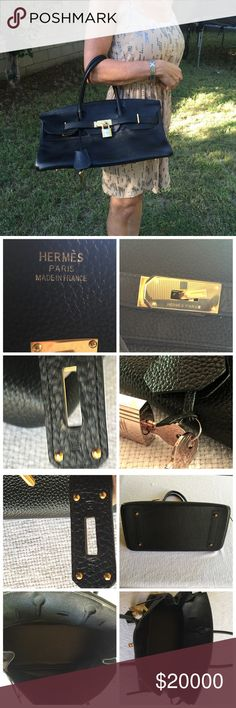 Birkin bag by Hermes!😍💯% Authentic start at $10k Birkin bag by Hermes!😍💯% Authentic.  The holy grail of all purses and it could be yours, Design by John Paul Gauthier, this bag is really one for the runways. It is 42 cm x 8 x 8. It's an enormous bag with gold hardware and giant gold lick #160 she's  is absolutely perfect in every way!  Reeking of leather and perfectly stitched and put together, one can't buy s better purse.  Guaranteed authentic!!! Starting at $10,000 Hermes Bags