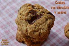 Cookies con chocolate y nueces! http://disfrutadelacocinaconmarta.blogspot.com.es/2014/02/cookies-con-chocolate-y-nueces.html