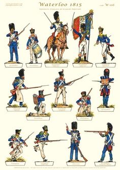 Waterloo 1815, Battle Of Waterloo, Military Art, Military History, Military Uniforms, Bataille De Waterloo, Plastic Soldier, French Army, Napoleonic Wars