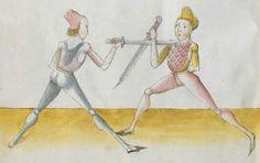 Lecküchner, Hans: Kunst des Messerfechtens Nordbayern, 1482 Cgm 582 Folio 432