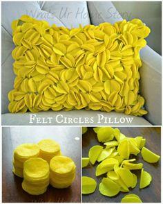 DIY Felt Circles Pillow
