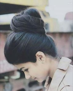 ~ bun part of the hairstyle ~ tight ~ smooth Bun Hairstyles For Long Hair, Braids For Long Hair, Pretty Hairstyles, Hairstyle Ideas, Long Indian Hair, Bridal Hair Buns, Beautiful Long Hair, Amazing Hair, Beautiful Buns