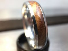 Mens Wooden Wedding Band made from English Oak Burl and Cobalt, Mens Engagement Ring, Mens Promise Ring Mens Wooden Wedding Bands, Fingernail Polish Remover, Promise Rings For Guys, Engagement Rings For Men, Ring Pictures, Wide Rings, One Ring, Metal Bands, Fashion Rings