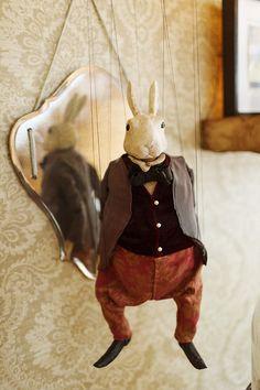 White Rabbit puppet