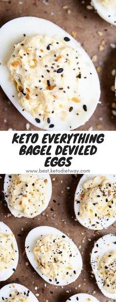 Keto Everything Bagel Deviled Eggs Breakfast Cookies, Breakfast Bowls, Breakfast Recipes, Breakfast Ideas, Chorizo Recipes, Keto Recipes, Slow Cooker Clam Chowder, Bagel Dip, Eggs Low Carb
