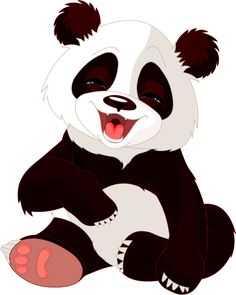 Panda Dessin Assis Petit Panda Mignon Avec Du Bambou Vert Isole Sur