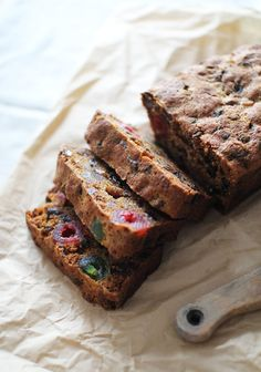"This <a href=""http://www.flourishingfoodie.com/2012/12/boozy-christmas-fruit-cake.html"" target=""_blank"">boozy fruitcake</a> can be spiked with brandy or rum."