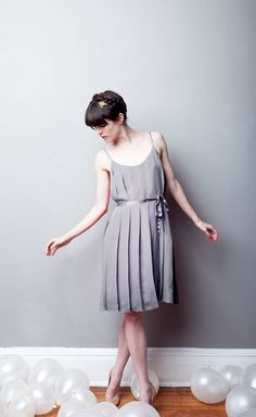 Let Them Eat Meringue Pleated Dress