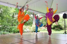 Bhangra, folk dance form from dancers Punjab