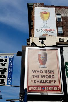 Newcastle Billboard Battle – Who uses the word chalice by Droga5