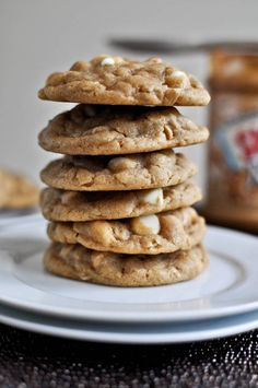 white chocolate peanut butter oatmeal cookies