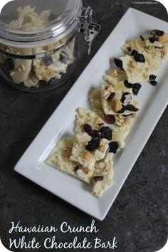 Hawaiian Crunch White Chocolate Bark | Cooking In Stilettos  http://cookinginstilettos.com/hawaiian-crunch-white-chocolate-bark/