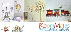 RoomMates Peel & Stick Wall Decals - removable, repositionable, and reusable wall decals. They feature your favorite designs and popular characters, and can be applied to any smooth surface.