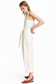 Wide trousers - White - Ladies | H&M GB