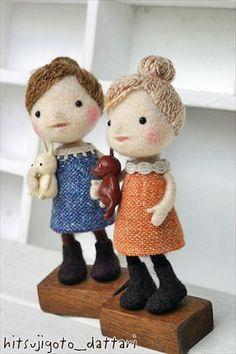 felt dolls - Hitsujigoto Dattari ♥