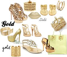 """""""gold"""" by oneandonly7 on Polyvore"""