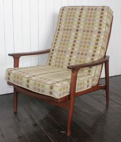 Danish Chair upholstered in Melin Tregwynt fabric by Mick Sheridan
